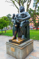 statue representing motherhood of Botero Medellin