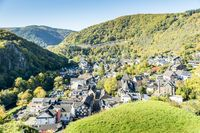 The place Altenahr in the Ahr valley at the foot of the castle Are