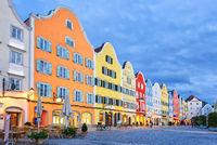 Gothic old town of Scharding, Upper Austria