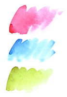 Brush strokes of different colours