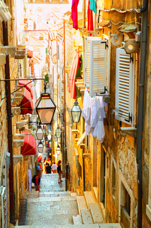 Street in old town of Dubrovnik