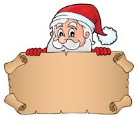 Lurking Santa Claus holding parchment 1