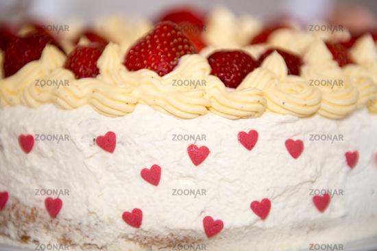 Home made strawberry cake