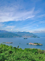 Lake Maggiore with Isola Bella and borromean Islands,Piedmont,Italy