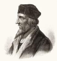 Jan Hus or Johannes Huss, ca. 1369 - 1415, a Christian reformer