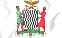 Zambia coat of arms. 3D Illustration.
