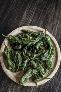 pimientos padron grilled green peppers spanish tapas snack