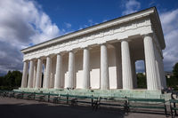 Neoclassical Theseus Temple in Vienna Volksgarten