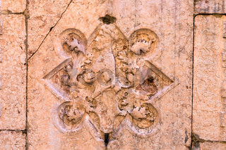 wall decoration of medieval house in Verona