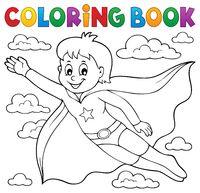 Coloring book super hero boy theme 1