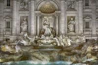 Trevi-Fountain in Rome