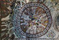 Coupola painting of nine Apostels, rock-hewn church Abuna Yemata, Gheralta, Tigray, Ethiopia