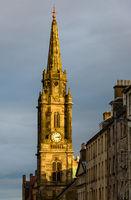 Tron Kirk clock tower in Edinburgh, Scotland