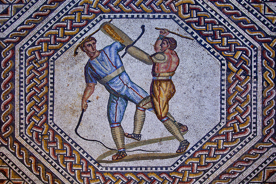 roman mosaic floor, Nennig, Saarland, Germany
