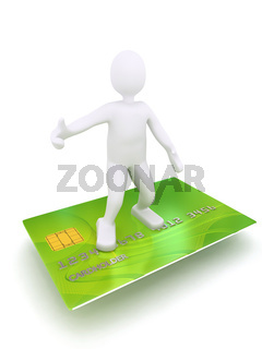 3d person on credit card