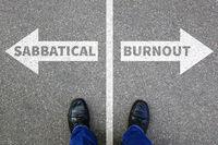 Sabbatical Burnout Stress, Erholung auf Arbeit Gesundheit Business Konzept Problem
