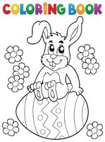 Coloring book Easter rabbit theme 5