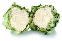 Blumenkohl frisch Gemüse Freisteller freigestellt isoliert