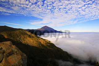 Vulkan Pico del Teide, Teide-Nationalpark, Parque Nacional de las Cañadas del Teide, Teneriffa, Kana