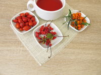Red fruit tea with barberry, rose hip and sea buckthorn