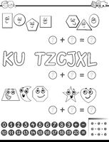 maths activity for coloring