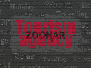 Travel concept: Tourism Agency on wall background
