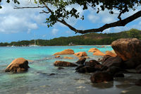 Bay of Latio Beach at Praslin Seychelles