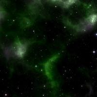 a stars background with green nebula