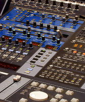 professional mixing equipment with a lot of buttons professional mixing equipment with a lot of buttons