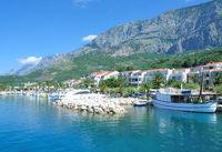 Village of Tucepi at adriatic Sea,Makarska Riviera,Dalmatia region,Croatia