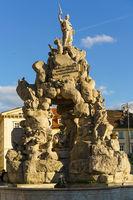 Historical fountain in  Brno