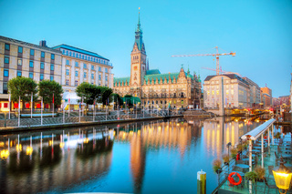Rathaus of Hamburg, Germany