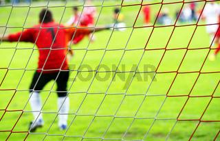 Fußball Torwart in Aktion