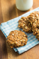 Homemade oatmeal cookies.