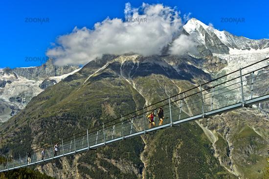 The world's longest pedestrian suspension bridge, Randa, Valais, Switzerland