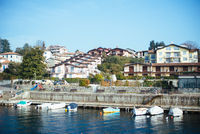 Terraced houses on the Lake Maggiore