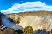 Colossal Dettifoss waterfall in Iceland