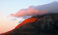 Evening at Table Mountain, Cape Town, South Africa