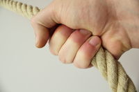 hand on rope