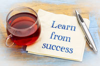 Learn from success advice
