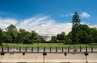 White House Washington DC with expanded security cordon