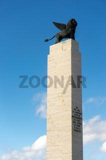 Monument in Fertilia, Sardinien