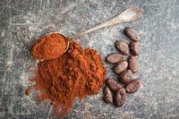 Dark cocoa powder.
