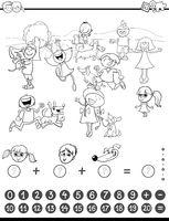 mathematic task coloring book