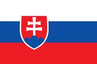 Fahne der Slowakei - Colored flag of Slovakia