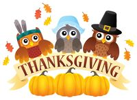 Thanksgiving owls thematic image 7