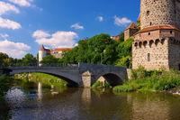 Bautzen in der Oberlausitz - town Bautzen in Upper Lusatia