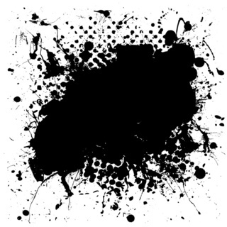 grunge mottled ink splat