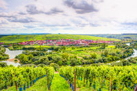 Village of Nordheim in a wine-growing district in Franconia