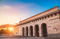 Hofburg palace gate at at sunset in Vienna Austria